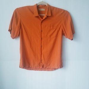 Tommy Bahama orange shirts Size L (100% silk)